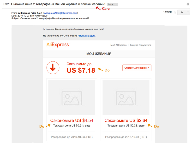 aliexpress framework see think do care mail